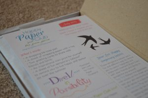 A Shopping List Notepad included in the Happy Paper Club July 2015 Box