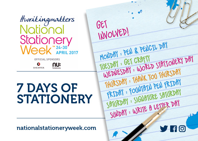 #NatStatWeek Seven Days of Stationery