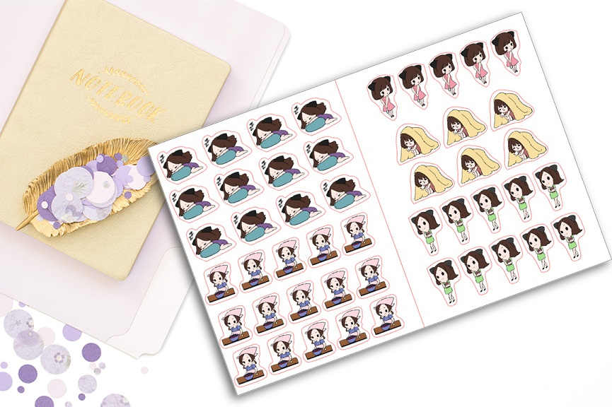 La Petite Paula Shop chibi sticker book