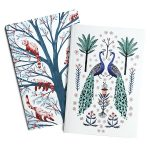 Papio Press Notebook - Red Panda & Peacocks