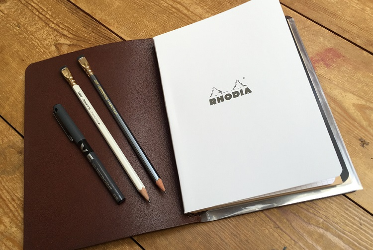 Start Bay Notebook Cover, Rhodia Pad and Blackwings