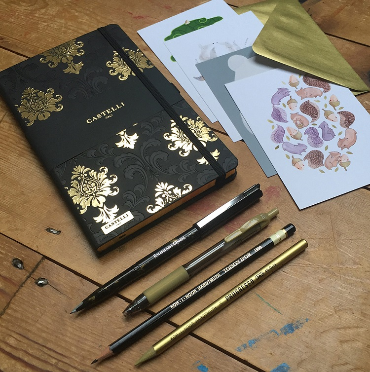 Spotlight Stationery Black & Gold box