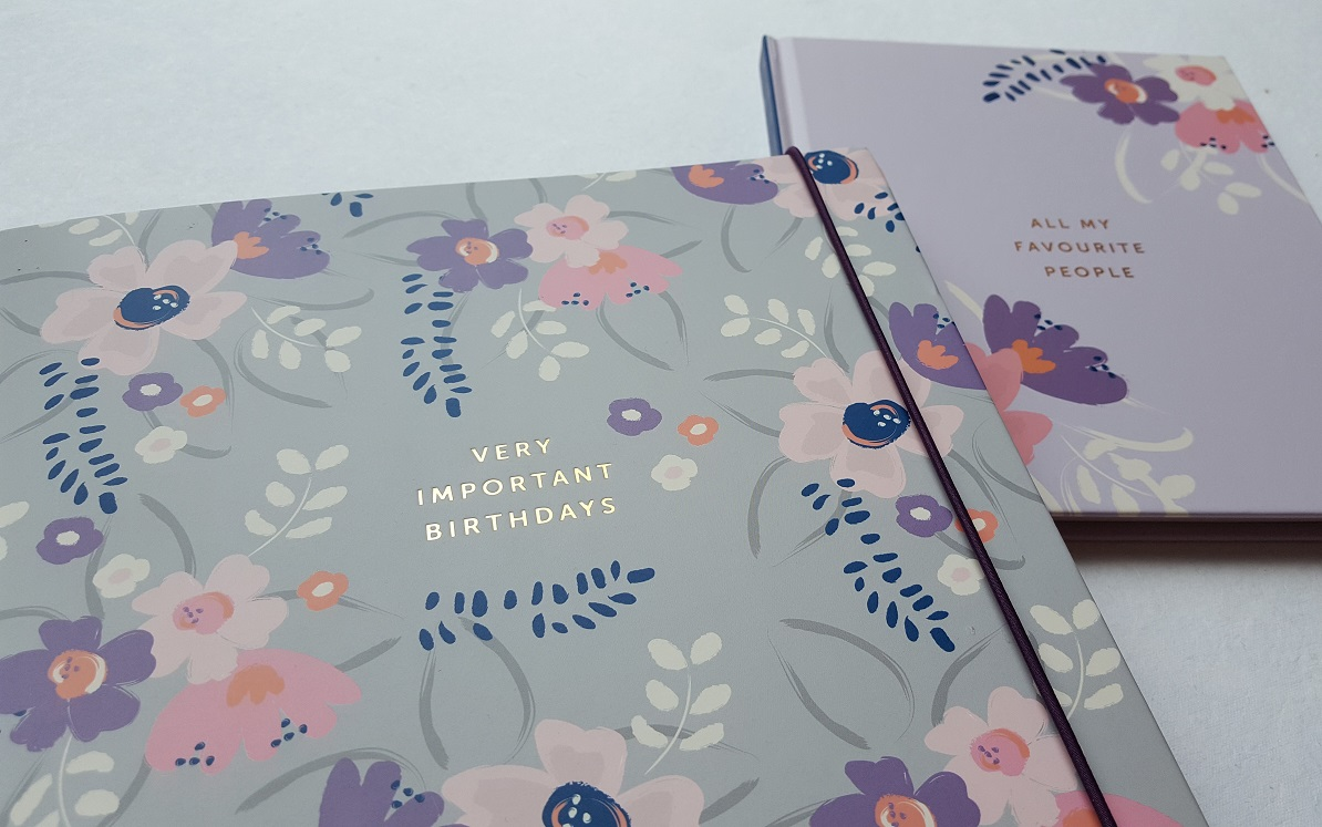 Busy B Birthday Card Book, featuring the Address Book too