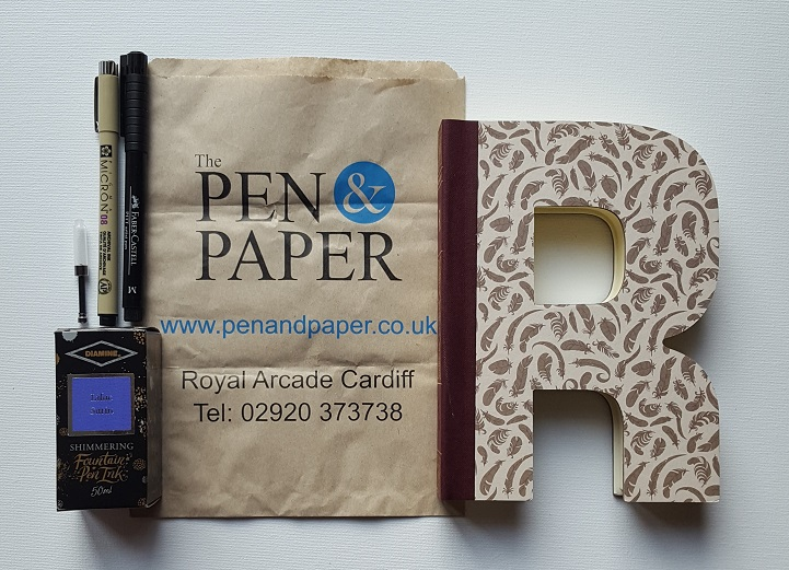 The Pen and Paper goodies I brought