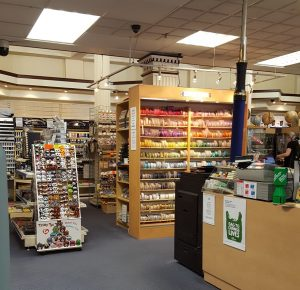 Glimpse into the inside of the store