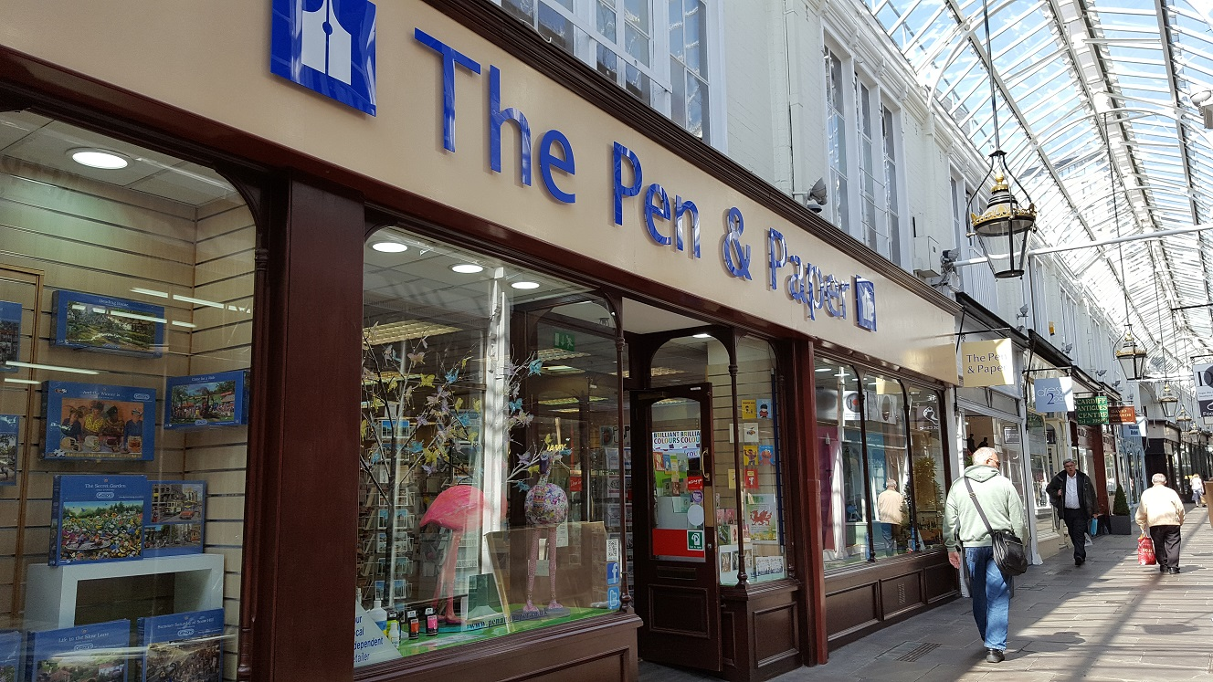 The Pen and Paper store in Cardiff
