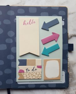Busy B Page Markers slotted into the diary