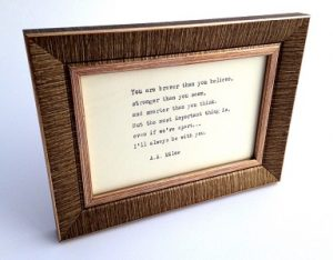 Personalised Gift Guide - Framed Quote or Lyrics