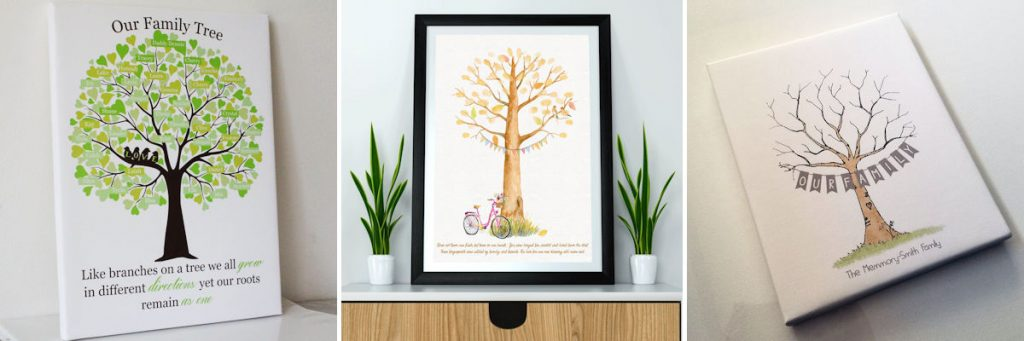 Personalised Gift Guide - Canvas and Framed Family Trees