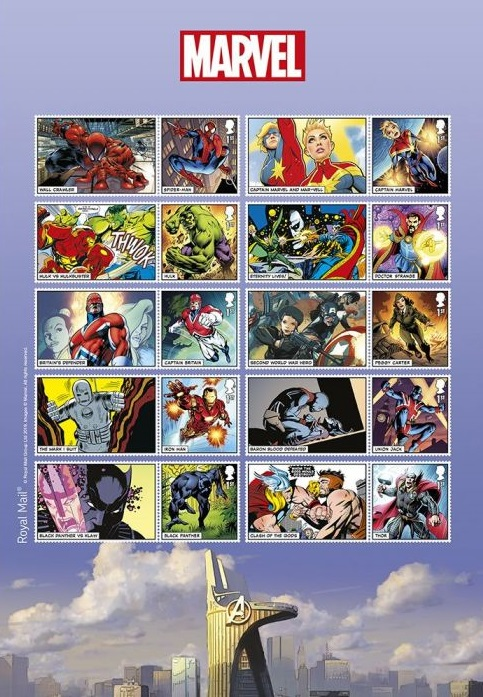 Royal Mail MARVEL Special Stamp Issue