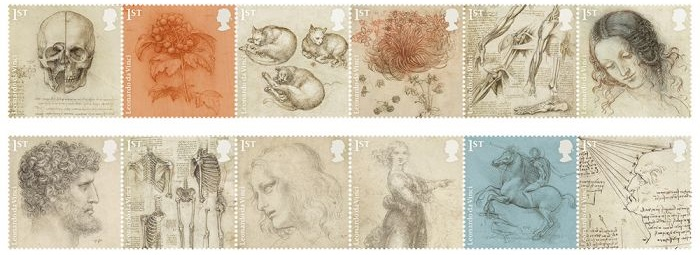 Royal Mail Leonardo da Vinci Special Stamp Issue