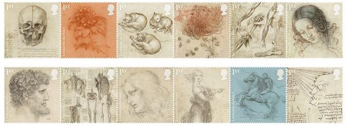 Royal Mail Leonardo da Vinci Special Stamp Issue