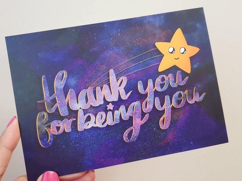 Aumsome Postcard - Thank you for being you