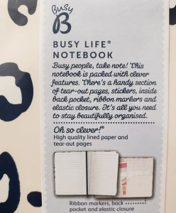 Busy B Busy Life Notebook - #TakeANote prize