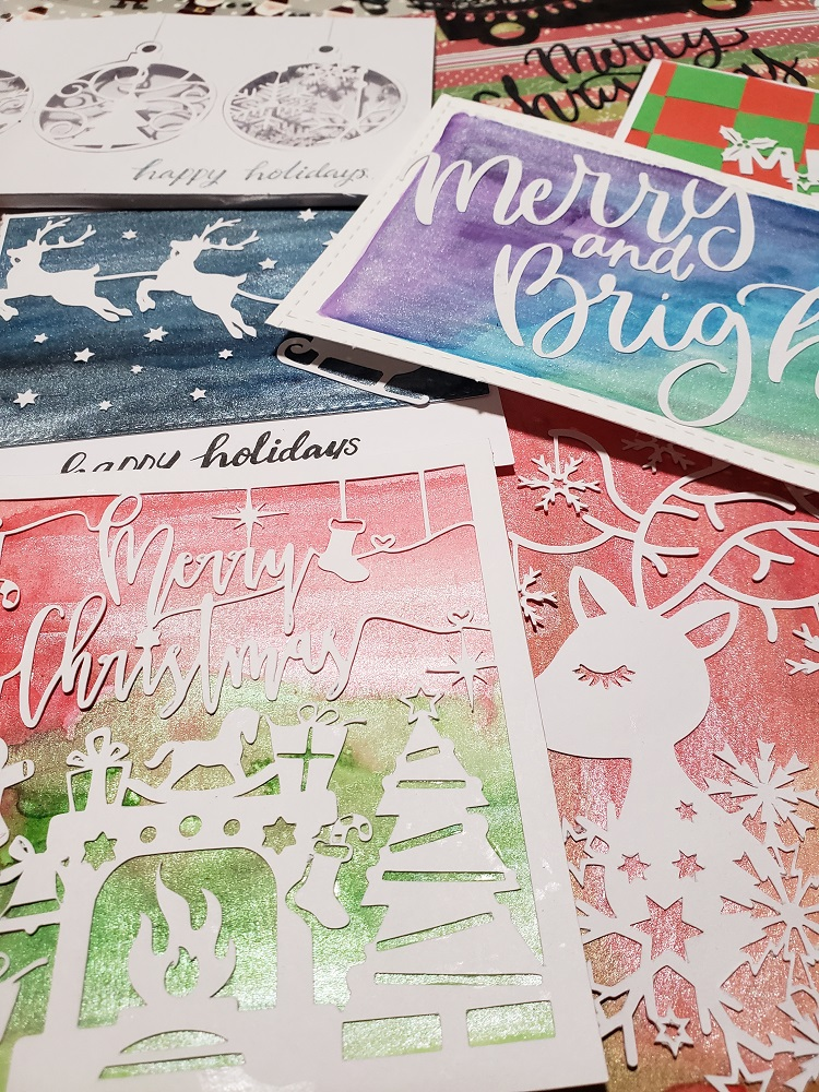 Cards using the Christmas Crafts Bundle from Design Bundles