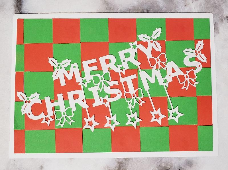 Card Design using the Christmas Craft Bundle from Design Bundles