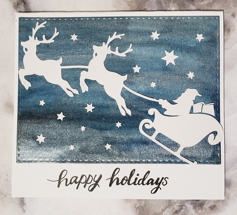 Cards using the Christmas Craft Bundle from Design Bundles