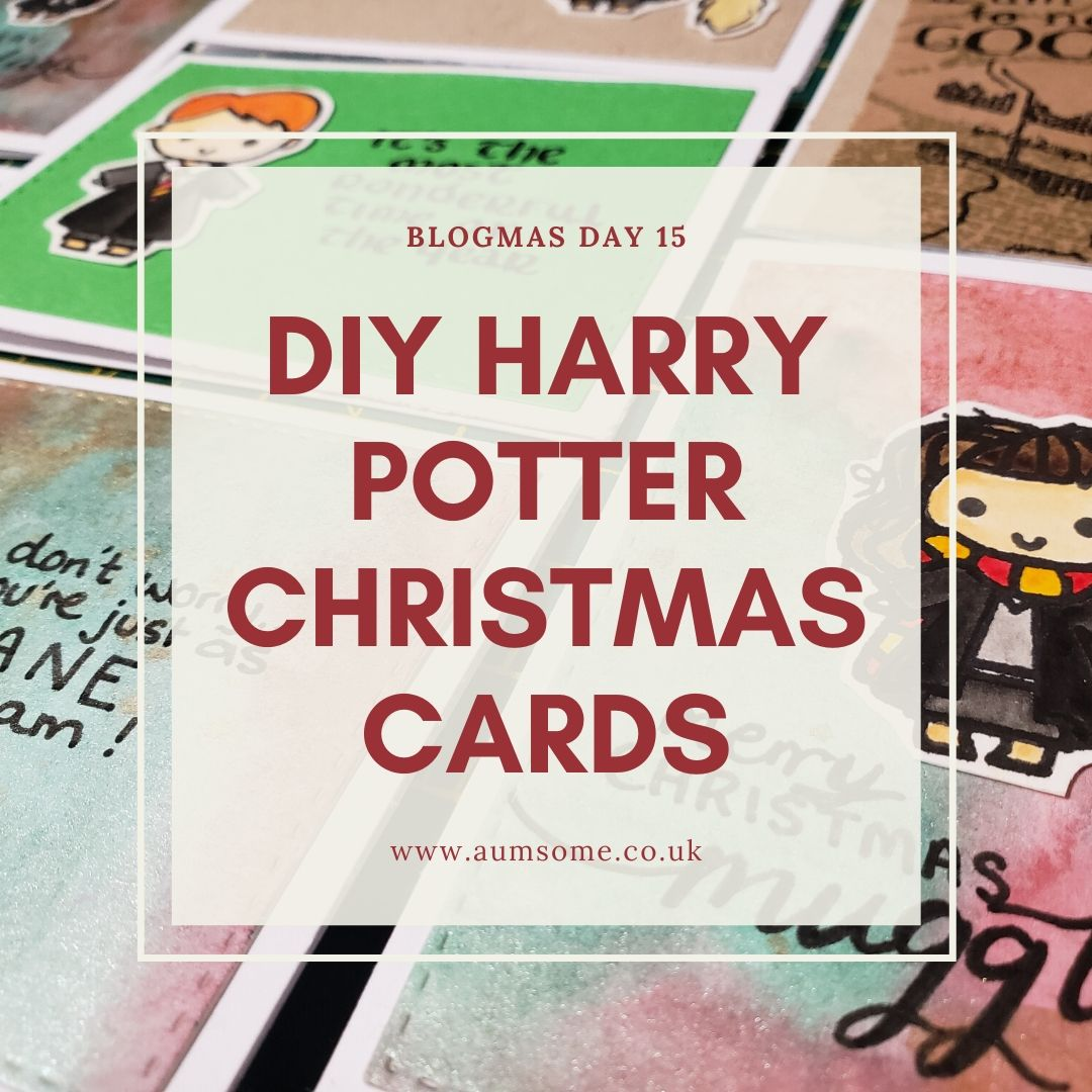 Blogmas Day 15, DIY Harry Potter Christmas Cards