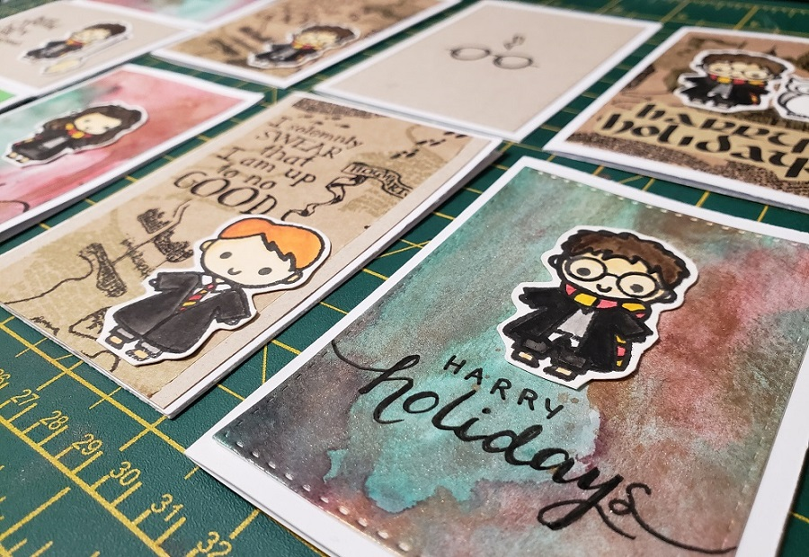 DIY Harry Potter Holiday Cards