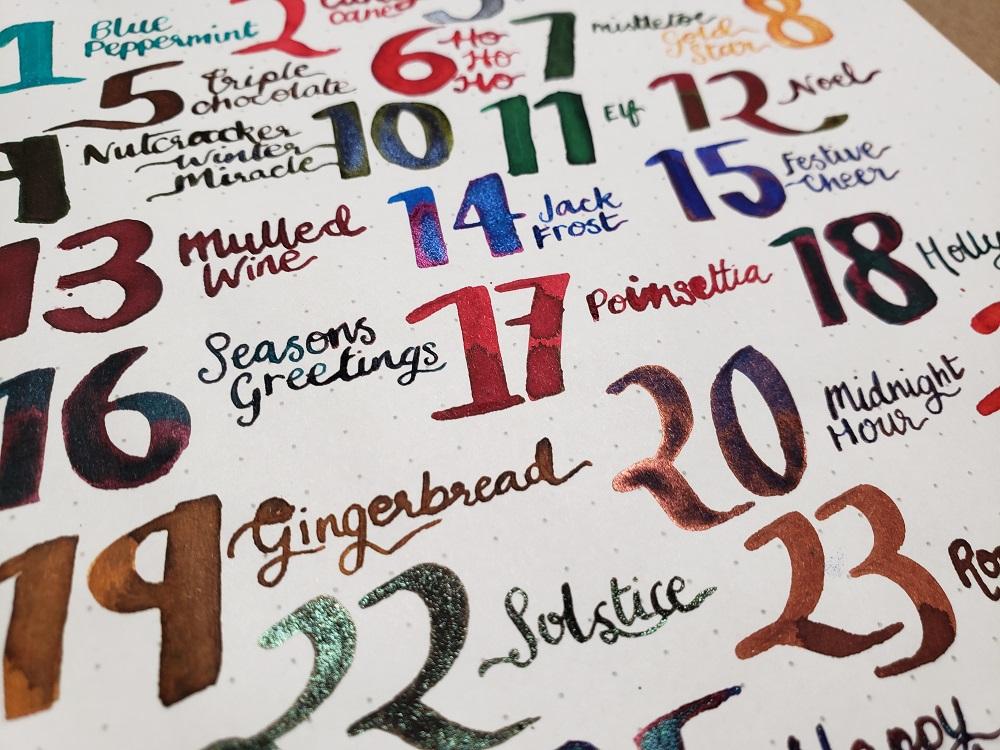 Diamine Inkvent Calendar 2019