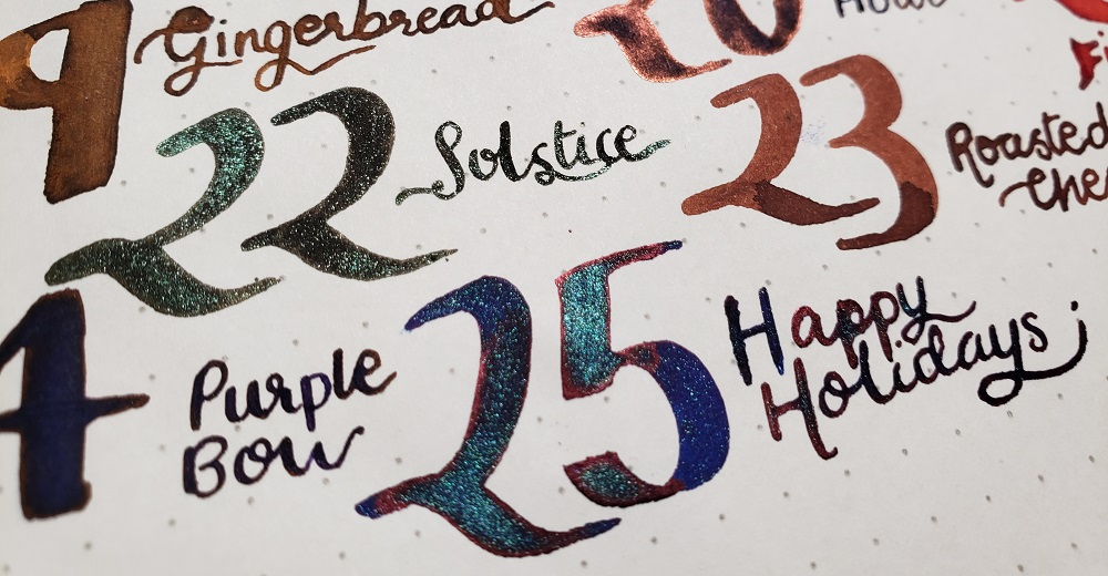 Shimmery and beautiful Diamine Inks