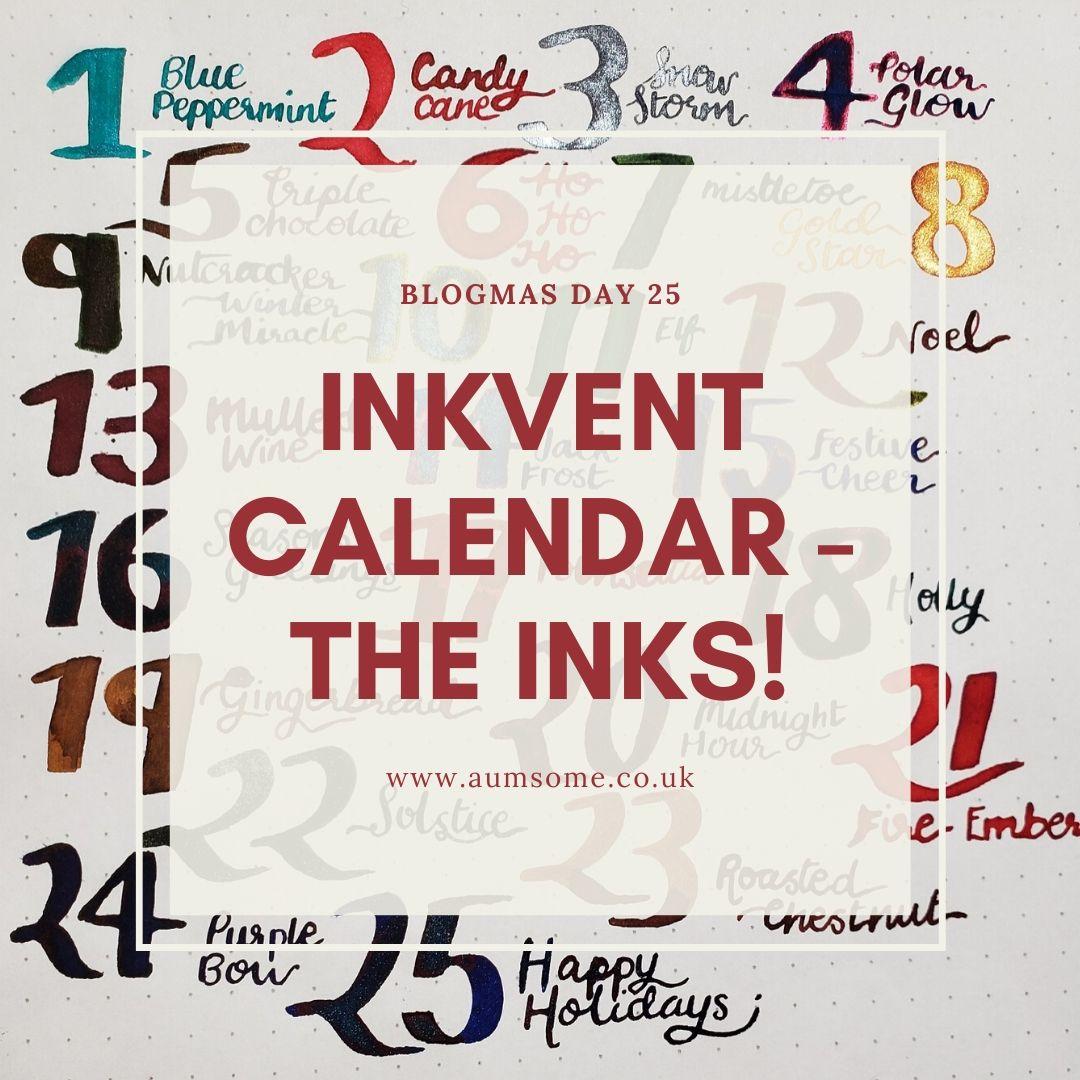 Blogmas - Inkvent Calendar