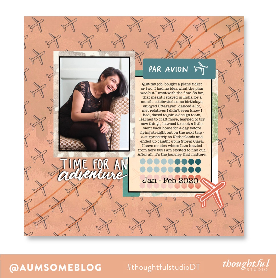 Thoughtful Studio - New Adventures Scrapbook Layout