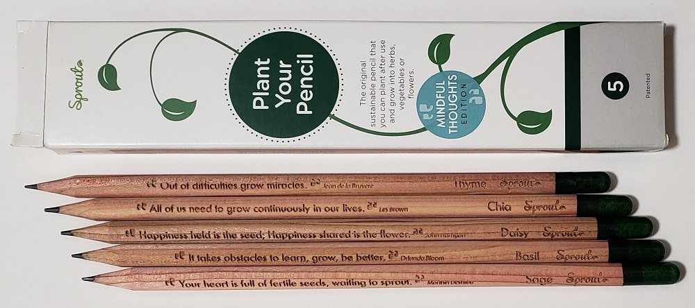 Sprout Plant Your Pencil Mindful Thoughts